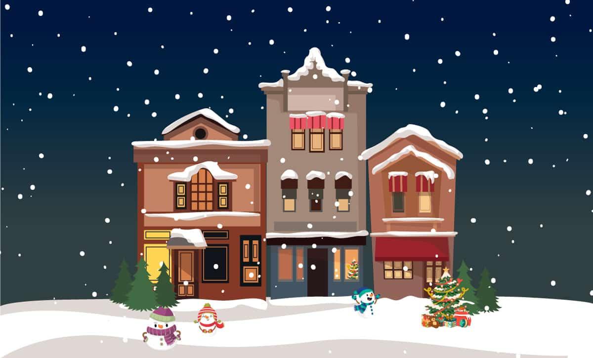 Virtuelles Weihnachtshaus